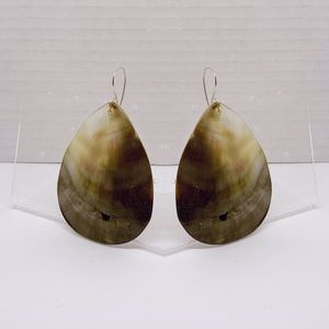 handcrafted sterling silver shell earrings #166